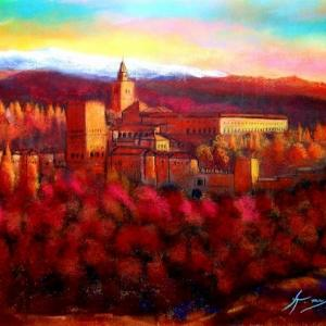 想い出の    アルハンブラ宮殿