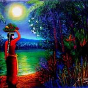 バリ島 満月の夜