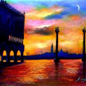 黄昏のドゥカーレ宮殿