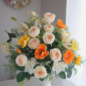 企業様受付用の花を納品させていただきました