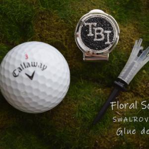 オリジナルゴルフマーカーはスワロフスキーで♪
