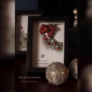 大人のクリスマスリース ~グルーデコ インテリアフレーム~
