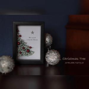 クリスマスツリー ~大人のグルーデコ インテリアフレーム~