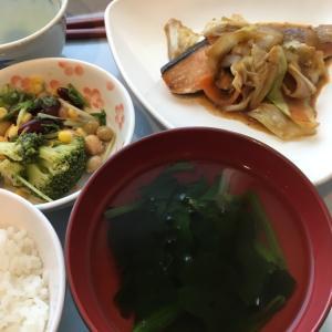 今日の社食 鮭のちゃんちゃん焼き
