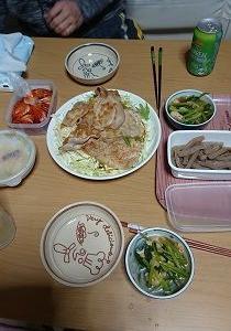 豚肉の生姜焼き~(⌒∇⌒) 被ったwwww