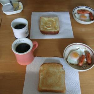 休日の朝ごはんと今日のお弁当