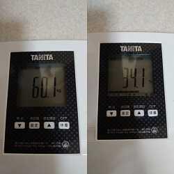 禁酒1日後の体重増加!60㎏越え