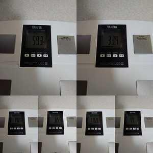 今日の体重のみ