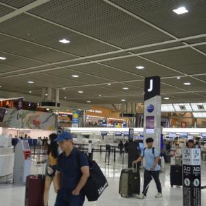 9、20ハワイ島に向けて出発です。成田からコナ行き直行便です。