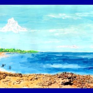 ☆★このご時世、ハワイの絵を描いて自分なりに至福のひと時を★☆