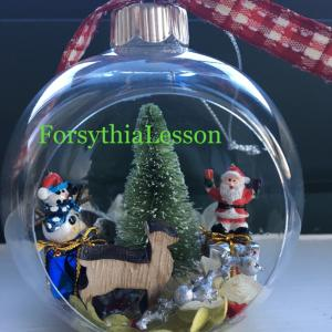 固まるハーバリウムでクリスマスオーナメントと・・・・・