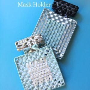 除菌・消毒のできるマスクホルダー大活躍です