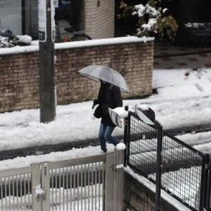 今日の雪、そしてカレッタ汐留イルミ
