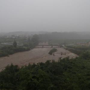 台風本隊が来る前に大増水に・・・