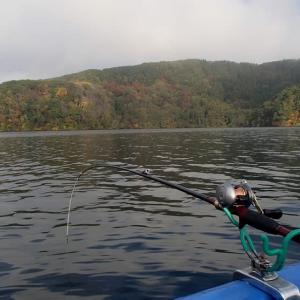 これにて〆(野尻湖のヒメマス釣り)・・・