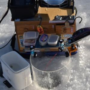 氷上ワカサギ釣り・風除けの仕様・・・