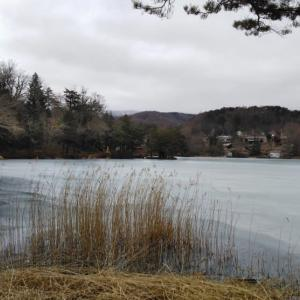 今シーズン初の松原湖・・・