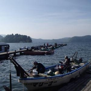 野尻湖でヒメマス釣り・・・