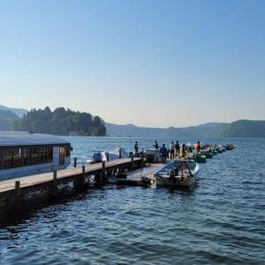 野尻湖のヒメマス釣り(12回目)・・・今期初のダブル・ツ抜け!