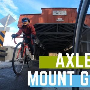ロードバイクの自転車ホイールシャフトにGoPro8を取り付けてローアングルからの映像
