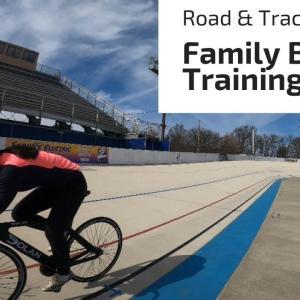 連休の週末はロードバイクとトラックバイクで家族練習