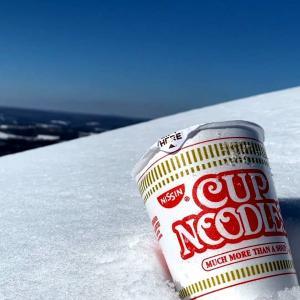 冬・雪山ハイキング インスタントラーメンが美味しかった