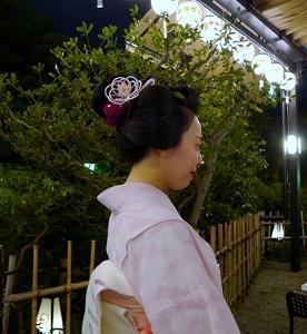京都エメラルド美容室で日本髪を結う