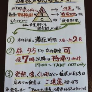 愛知県に緊急事態宣言発令後の当店での対策として
