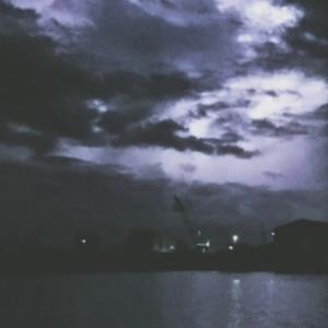 閉店後の夜釣り!雷が!
