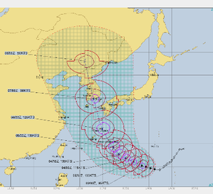 台風対策を昨日から