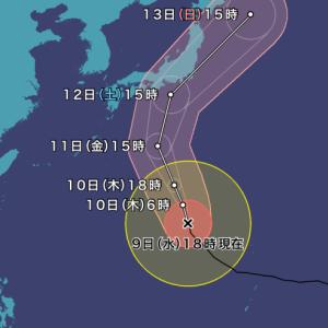 台風19号が怖い。出来る限りの備えを