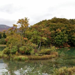 月山、志津地蔵沼の紅葉(2020年10月17日)