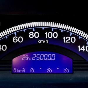 フリードスパイクの走行距離が25万kmに
