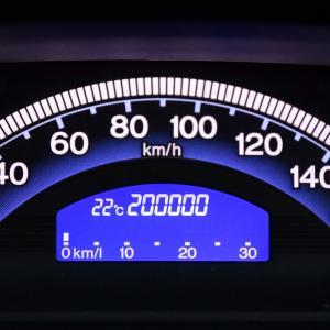 フリードスパイクの走行距離が20万kmに