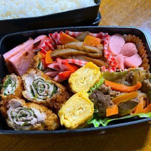 豚しそフライ&豚焼き肉弁当
