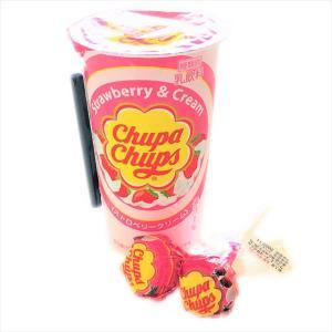 【コンビニ】世界中で愛され続けるチュッパチャプス!ストロベリークリームは懐かしい味わいのドリンク