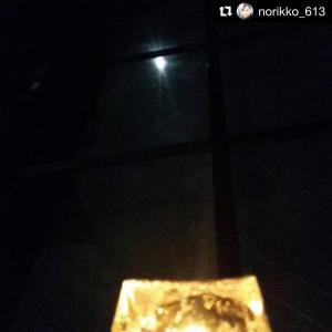満月の夜に浄化アロマキャンドルを。。