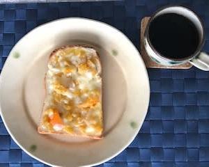 干し芋チーズトースト マーマレード風味♬