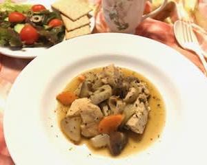 鶏肉と根菜のハーブソテー♬