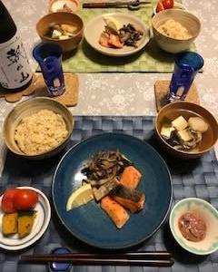 お家ご飯 鮭と舞茸炒め♬