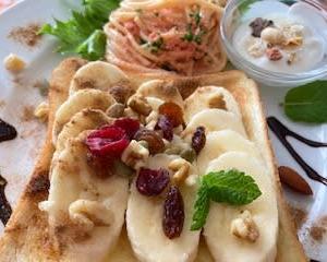 欲ばり バナナトーストで お腹いっぱい♬
