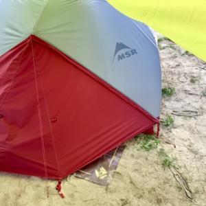初日は大雨!砂場でレスキューされる!
