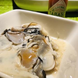 意外!?牡蠣とタバスコのマリアージュ(とか、大袈裟に表現してみる)。