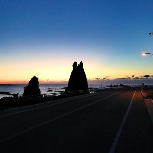 トトロ岩の夕暮れ