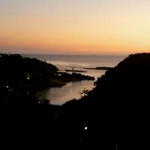 福浦港の夕景