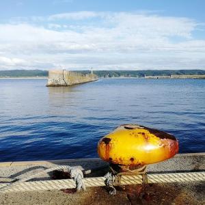 秋晴れの西海漁港