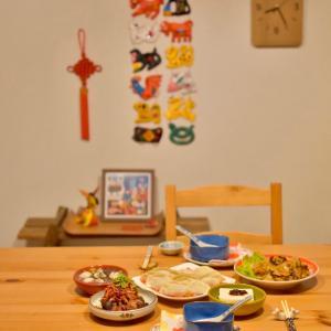手作り水餃子で年夜飯ごはん。