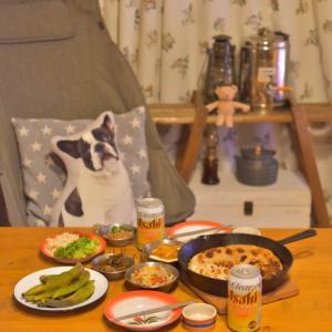 手作り餃子とクリアアサヒな晩ごはん。