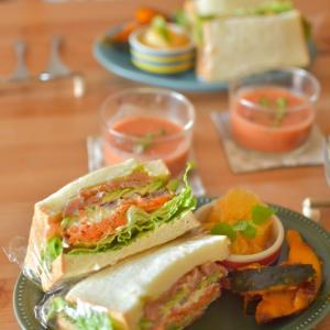 パンなお昼ごはん☆わんぱくサンドとミルクフレンチトースト