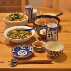 麻婆豆腐の家飲み晩ごはん。